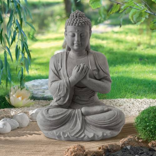 estatua de jardn zen buda altura cm with buda para jardin